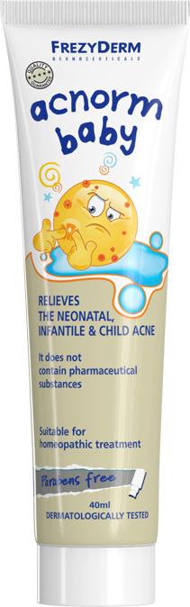 Frezyderm Acnorm Baby Cream, Απαλή Κρέμα για τη Νεογνική, Βρεφική & Παιδική Ακμή, 40ml