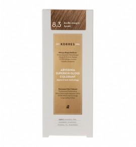 Korres Abyssinia Superior Gloss Colorant Μόνιμη Βαφή Μαλλιών 8.3 Ξανθό Ανοιχτό Χρυσό 50ml