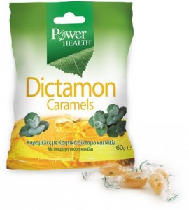 Power Health Dictamon Caramels Καραμέλες για το Βήχα από Κρητικό Δίκταμο & Μέλι - Γεύση Κανέλα, 60gr