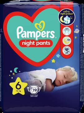 Πάνες Pampers Night Pants Νο6 (15+kg), 19τεμ