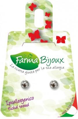 Farma Bijoux Σκουλαρίκια Ασημί Πέρλα 8mm, 1 Ζευγάρι