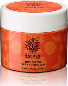 Garden Body Butter Vanilla & Indian Cress Θρεπτικό και Ενυδατικό Βούτυρο Σώματος με Ινδοκάρδαμο 200m