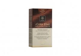Apivita Βαφή Μαλλιών 7.44 My Color Elixir kit Μόνιμη ΞΑΝΘΟ ΕΝΤΟΝΟ ΧΑΛΚΙΝΟ