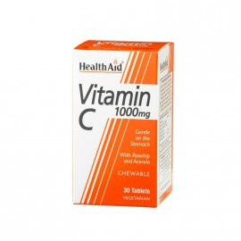 HEALTH AID Vitamin C 1000mg Chewable Orange Flavour tablets 30s
