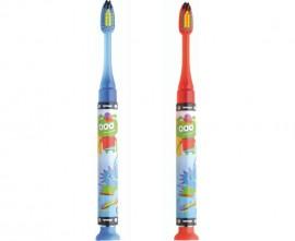 GUM Promo Junior Light Up 5+ Years, Παιδική Οδοντόβουρτσα Μπλε και Κόκκινο, 2τμχ [1+1 Δώρο]