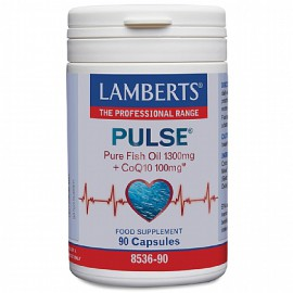 Lamberts Pulse Pure Fish Oil 1300mg & CoQ10 100mg για την Φυσιολογική Λειτουργία της Καρδιάς του Εγκεφάλου και της Όρασης 90caps (8536-90)