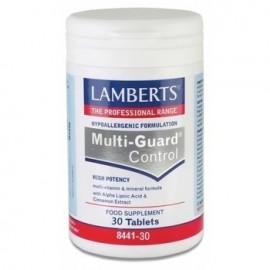 Lamberts Multi Guard Control Φόρμουλα Βιταμινών και Μετάλλων με προσθήκη Κανέλλας και Α-λιποϊκού Οξέος, 30 tabs