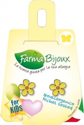 Farma Bijoux Σκουλαρίκια Κίτρινο Λουλούδι 8mm, 1 Ζευγάρι