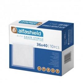Alfashield Alfa Gauze Αποστειρωμένες γάζες 36x40cm, 10 τεμ