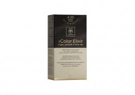 Apivita Βαφή Μαλλιών 4.20 My Color Elixir kit Μόνιμη ΚΑΣΤΑΝΟ ΒΙΟΛΕΤΙ