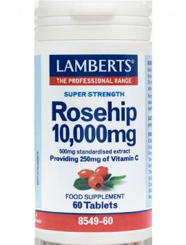 Lamberts Rose Ηip 10.000mg, Καλή Λειτουργεία Χόνδρων, Ούλων, Δέρματος, Αγγείων, Ανοσοποιητικό 60tabs