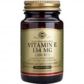 Solgar Vitamin E 200IU Συμπλήρωμα Διατροφής Βιταμίνη Ε με Ισχυρή Αντιοξειδωτική Δράση, Συμβάλλει στην Υγεία του Καρδιαγγειακού & Ανοσοποιητικού Συστήματος - Ιδανική για Όμορφο Δέρμα, 250softgels