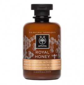 Apivita Royal Honey Shower Gel με Essential Oils Κρεμώδες Αφρόλουτρο με Αιθέρια Έλαια & Μέλι, 250ml
