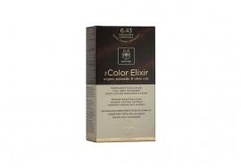 Apivita Βαφή Μαλλιών 6.43 My Color Elixir kit Μόνιμη ΞΑΝΘΟ ΣΚΟΥΡΟ ΧΑΛΚΙΝΟ ΜΕΛΙ