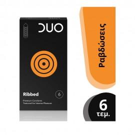 DUO Premium Ribbed με Ραβδώσεις 6τμχ