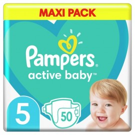 Pampers Active Baby Maxi Pack No 5 (11-16 kg) 50τεμάχια