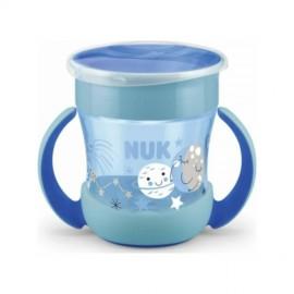 Nuk Mini Magic Cup Night Ποτηράκι με Χείλος και Καπάκι που Φωσφορίζει στο Σκοτάδι 6m+ Μπλε, 160ml