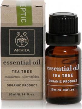 Apivita Tea Tree Βιολογικά Αιθέριο Έλαιο Τεϊόδεντρο, 10ml