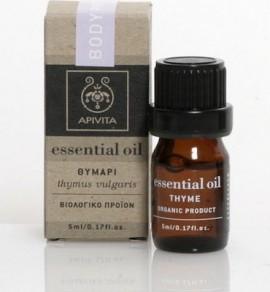 Apivita Essential Oil Thyme 100% Βιολογικό Αιθέριο Ελαιο Θυμάρι, 5ml