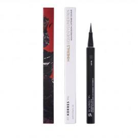 Korres Minerals Αδιάβροχο Eyeliner σε μορφή μαρκαδόρου 01 Black, 1τμχ