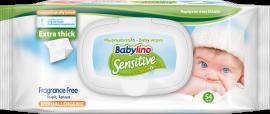 Babylino Sensitive Μωρομάντηλα Χωρίς Άρωμα με Χαμομήλι, με Καπάκι, 54 τεμαχίων