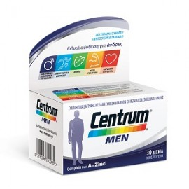 Centrum Men Complete from A to Zinc Πολυβιταμίνη που Καλύπτει τις Διατροφικές Ανάγκες του Άνδρα, 30tabs