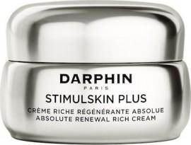 Darphin Stimulskin Plus Absolute Renewal Rich Cream, Επανορθωτική Κρέμα Προσώπου για Ρυτίδες, Σύσφιξη, Ενυδάτωση & Λάμψη Πλουσιας Υφης Ξηρες/Πολύ Ξηρες Επιδερμίδες, 50ml