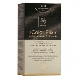 Apivita Βαφή Μαλλιών 4.11 My Color Elixir Kit Μόνιμη Καστανό Έντονο Σαντρέ