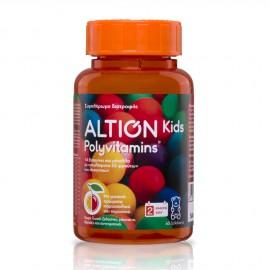 Altion Kids Polyvitamins Πολυβιταμινούχο Συμπλήρωμα Διατροφής για Παιδιά με Βιταμίνες & Μέταλλα, 60 ζελεδάκια