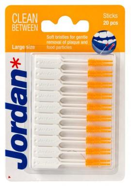 Jordan Clean Between Sticks Orange Μεσοδόντια Βουρτσάκια Large 20τμχ