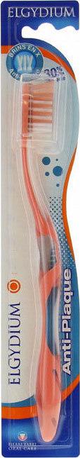 Elgydium Anti-plaque Soft Μαλακή Οδοντόβουρτσα Ενηλικών κατά της Οδοντικής Πλάκας Πορτοκαλί, 1τεμ