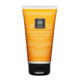 Apivita Κρέμα Θρέψης και Επανόρθωσης για Ξηρά/Ταλαιπωρημένα Μαλλιά με Ελιά & Μέλι, Nourish & Repair Conditioner Dry-Damaged Hair Olive & Honey, 150ml