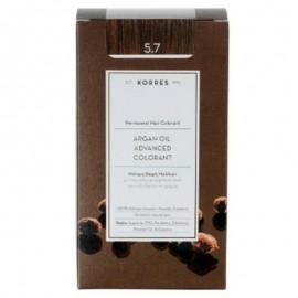 Korres Argan Oil Advanced Colorant Μόνιμη Βαφή Μαλλιών 5.7 Σοκολατί 50ml