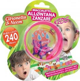 Brand Italia Citronella Mosquito Away Kids Pink 1τμχ