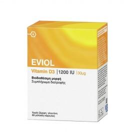 Eviol Vitamin D3 1200IU 30μg 60Soft Caps.