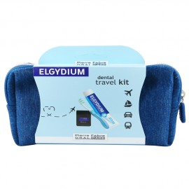 Elgydium Dental Travel Kit Μπορντώ, Σετ Ταξιδιού με Οδοντόκρεμα 50ml & Νήμα 5m