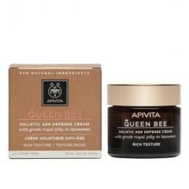 Apivita Queen Bee Κρέμα Ολιστικής Αντιγήρανσης Πλούσιας Υφής με Ελληνικό Βασιλικό Πολτό σε Λιποσώματα - Holistic Age Defence Day Cream With Royal Jelly in Liposomes Rich, 50ml