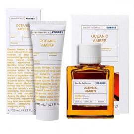 Korres Oceanic Amber Πακέτο Προσφοράς με Amber Eau De Toilette, 50ml & After Shave Balm Γαλάκτωμα για Μετά το Ξύρισμα, 125ml