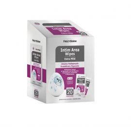 Frezyderm Intim Area Wipes Extra Mild Μαντηλάκια Καθαρισμού Για Την Ευαίσθητη Περιοχή, 20 Φακελάκια