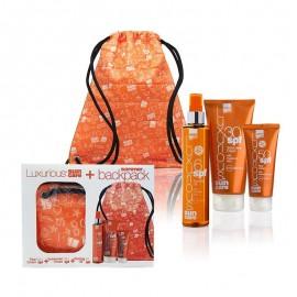 Intermed Luxurious Suncare Promo Pack Face Cream SPF50, Αντηλιακή Κρέμα Προσώπου 75ml & Sunscreen Body Cream SPF30, Αντηλιακή Κρέμα Σώματος 200ml & Tanning Oil SPF6, Λάδι Μαυρίσματος 200ml με ΔΩΡΟ το Summer Backpack