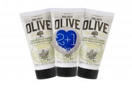 Korres Hand Cream Pure Greek Olive Κρέμα Χεριών Άνθη Ελιάς 75ml 2+1 Δώρο