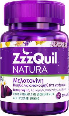 ZzzQuil NaturaΣυμπλήρωμα Διατροφής με Μελατονίνη με Γεύση Φρούτα του Δάσους, 30 ζελεδάκια