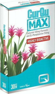 Quest CurQu Max Highly Bioactive Συμπλήρωμα Διατροφής με Κουρκουμά, 30tabs