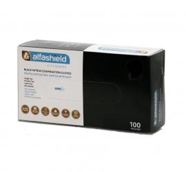 Alfashield Εξεταστικά Γάντια Νιτριλίου μιας χρήσης Χωρίς Πούδρα ΜΑΥΡΑ X-Large 100τμχ
