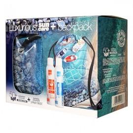 Intermed Luxurious Suncare Promo Pack με Antioxidant Sunscreen Spray SPF50, Αντιοξειδωτικό Αντιηλιακό με Βιταμίνη C, 200ml & Antioxidant Hydrating Spray Mist Ενυδατικό Νεφέλωμα με Υαλουρονικό Οξύ, 200ml & ΔΩΡΟ το Summer Greece Backpack