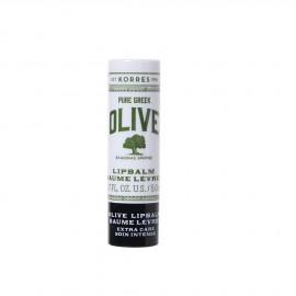 Korres Lip Balm Olive Pure Greek Baume Levres Extra Care, Με Αλόη & Βούτυρο Karitè 5ml