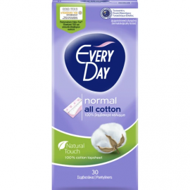 Every Day All Cotton Normal Ανατομικά Σερβιετάκια με Βαμβακερό Κάλυμμα 30τμχ
