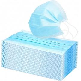 Μάσκες Προστασίας Μίας Χρήσης Τριπλής Ύφανσης - Μάσκα Χρώματος Μπλε, Συσκευασία 50 τεμάχια