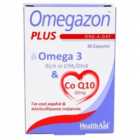 Health Aid Omegazon Plus Omega 3 & Co Q10 30mg 30Caps.