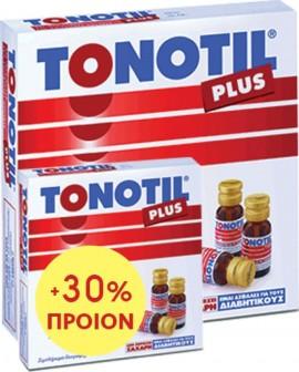 Tonotil Plus Συμπλήρωμα με Καρνιτίνη & 4 Αμινοξέα για Μεγάλη Ενέργεια & Δύναμη, Αμπούλες 10 + 3 ΔΩΡΟ x 10ml